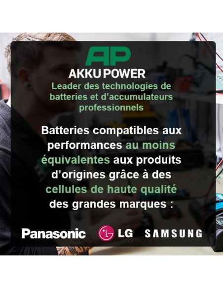 batterie-compatible-p566-makita-14-4v-3ah-nimh