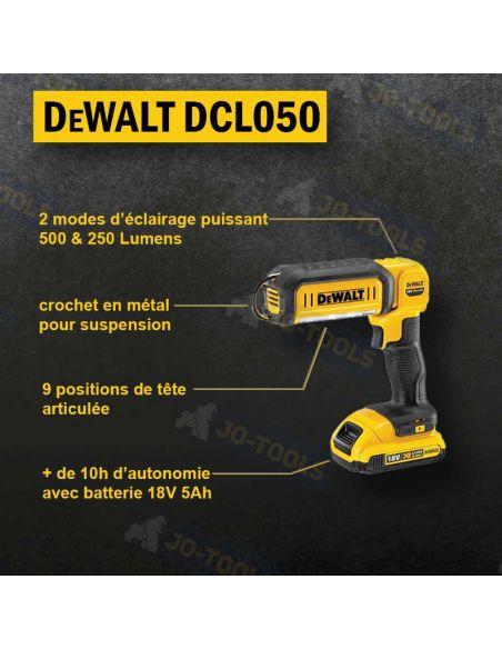 infographie-lampe-dewalt-18v-dcl050