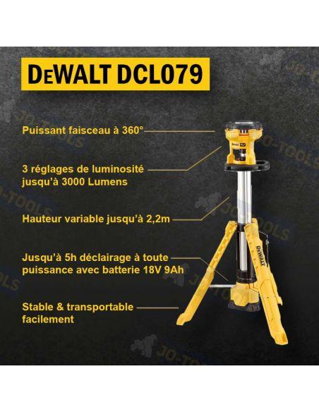 infographie-projecteur-chantier-dewalt-dcl079