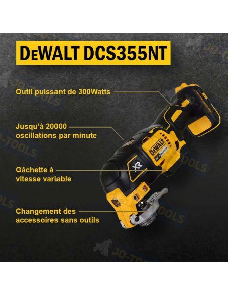 infographie outil multifonction dewalt dcs355nt
