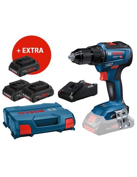 Perceuse Visseuse Bosch 18V GSR 18V-55 PRO + 3 Batteries ProCORE 18V 4Ah + Chargeur + Mallette