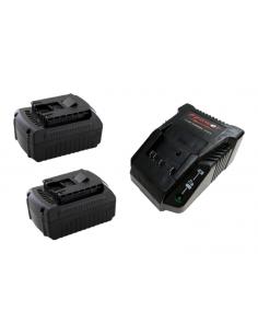 Pack démarrage AKKU POWER RB2218K2 pour BOSCH 18V Li-ion (2 x batteries 18V 5Ah Li-ion + 1 chargeur 14,4-18V Li-ion)